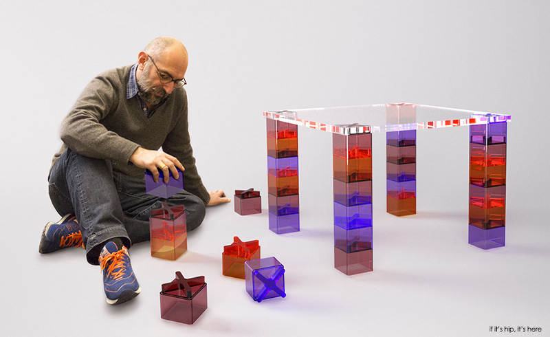 ferruccio with his clipclap table for Kartell if its hip its here