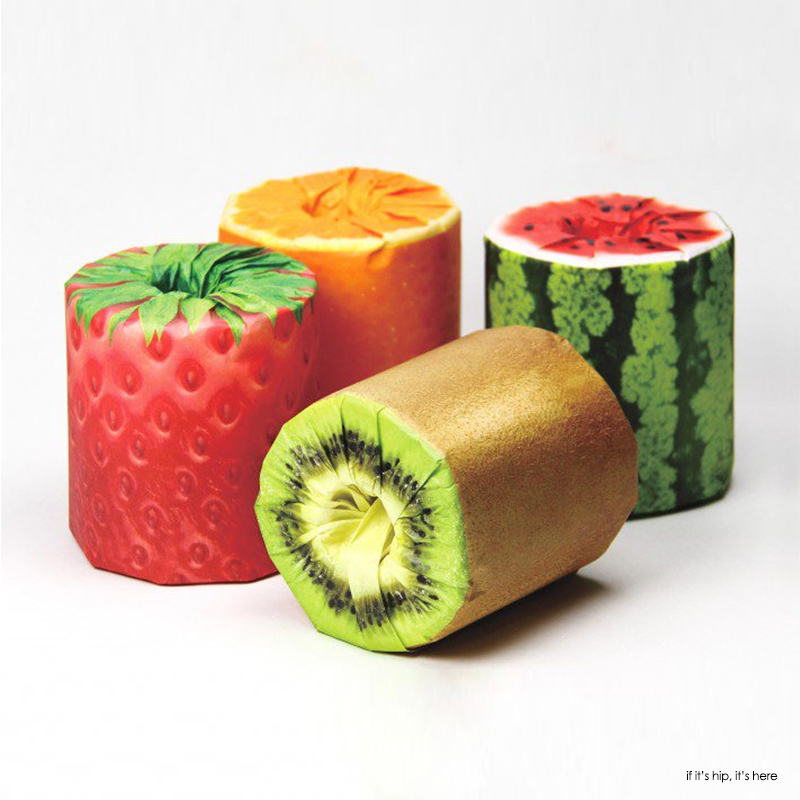 Fruits Toilet Paper. Learn more at if it's hip, it's here.