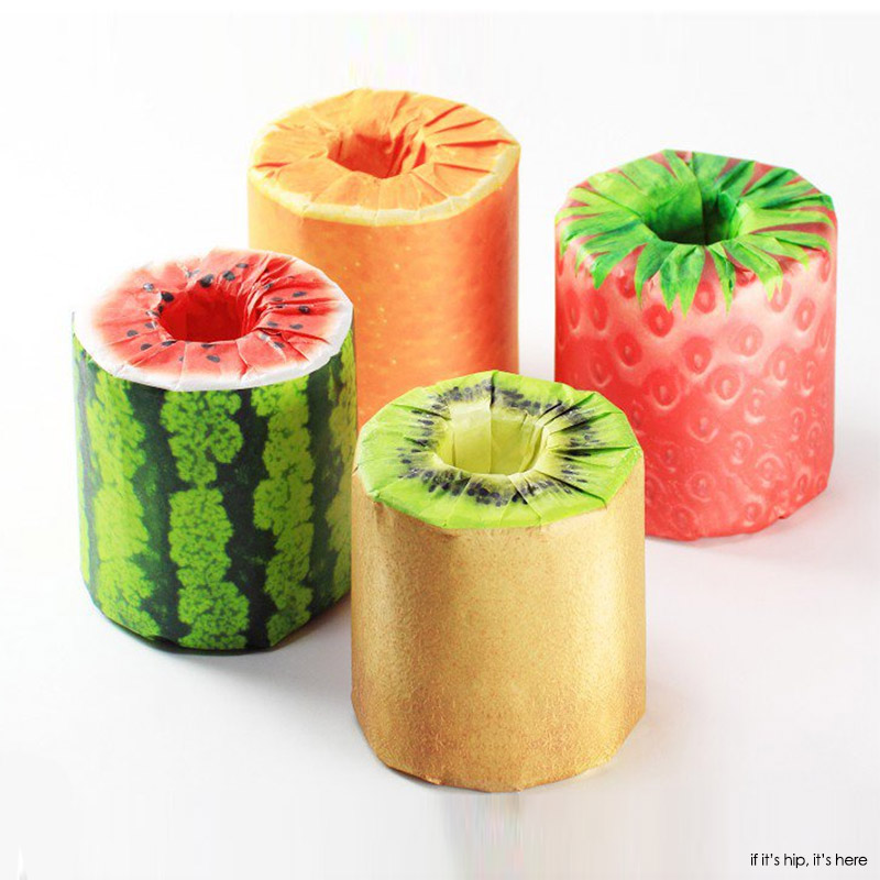 Fruits Toilet Paper. Learn m more at if it's hip, it's here.
