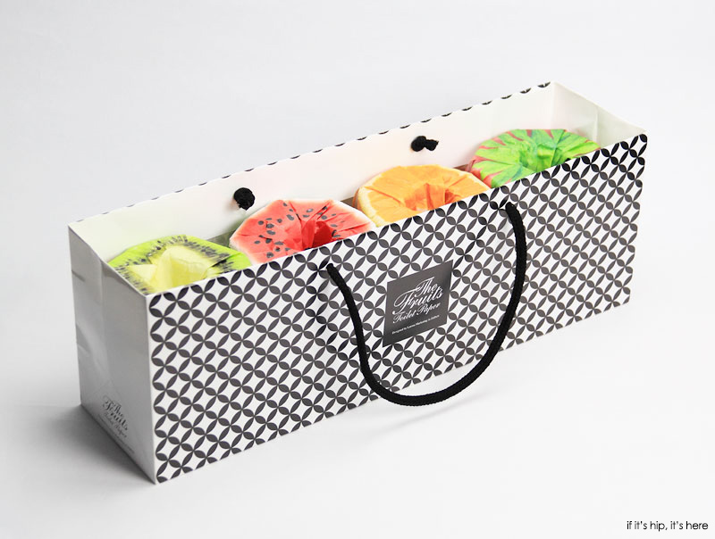 fruits toilet paper in a gift set of four