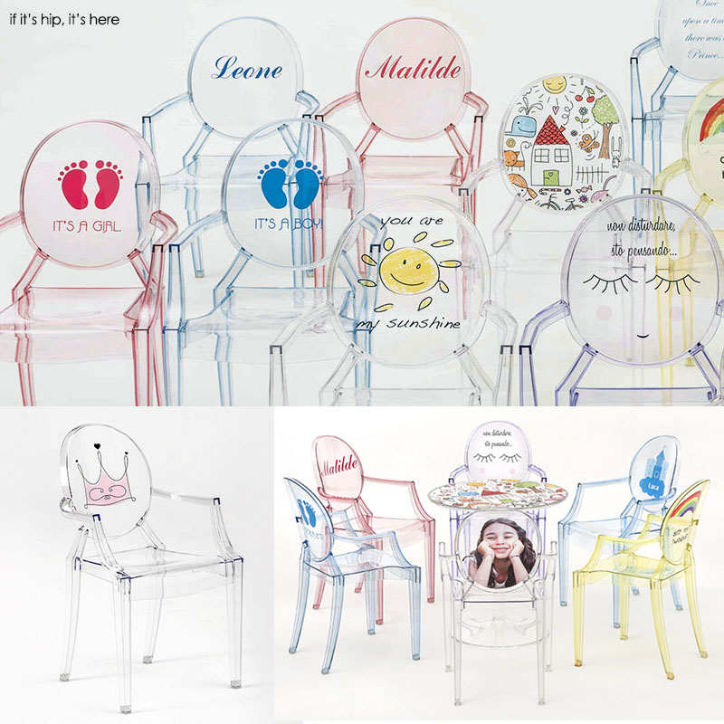 kartell for kids starck ghost chair personalized