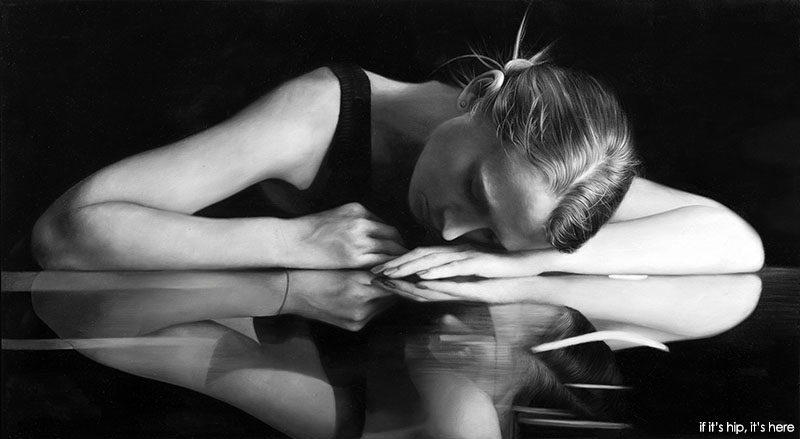 """Reflection, 2012, 24"""" x 43"""", oil on canvas"""