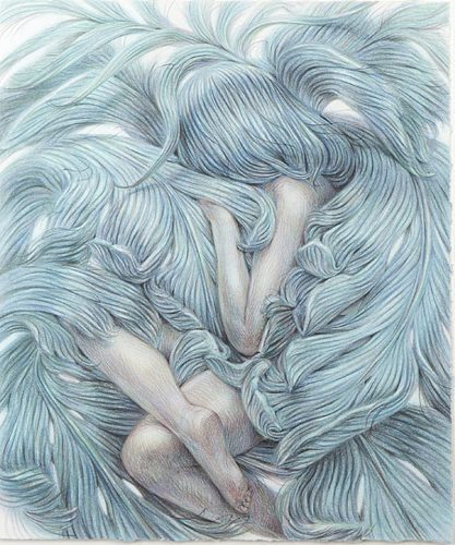 Read more about the article Filigree, Ferns, Feathers and Females: New Winnie Truong Drawings