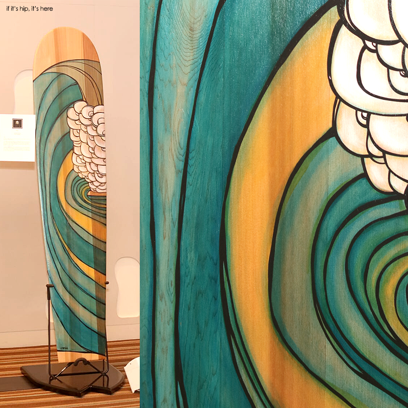 Alaia board shaped by Chris Viverito and painted by Heather Brown