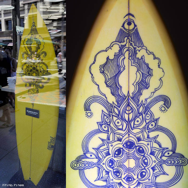 shaped by Bob Hurley and painted by Brandon Boyd