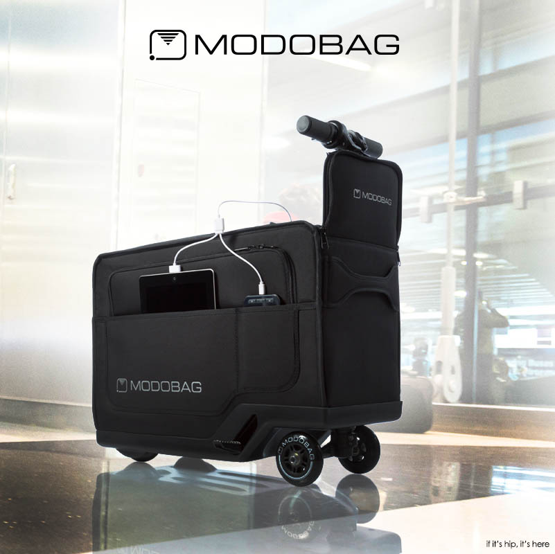the modobag motorized ride on luggage is brilliant