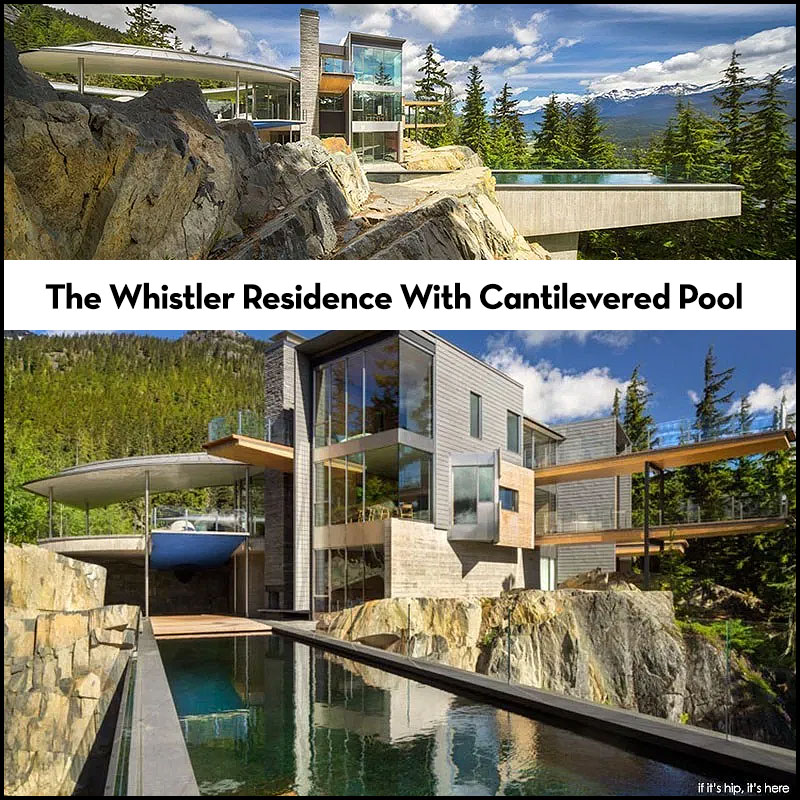 whistler residence with cantilevered pool
