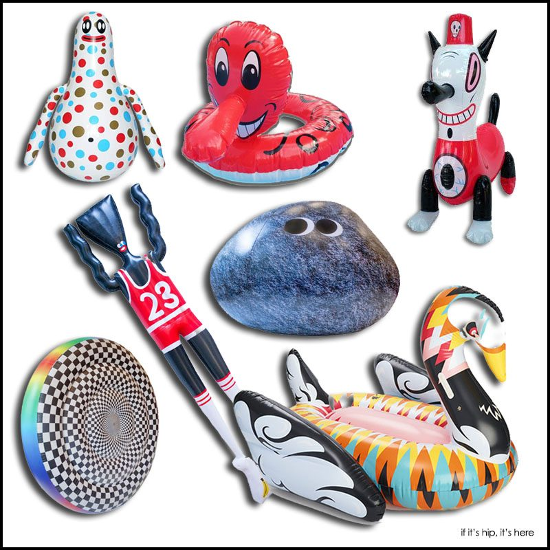 artist designed pool toys and floats