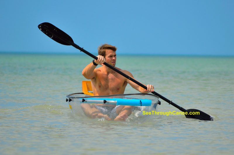 The clear kayak from See Through Canoe