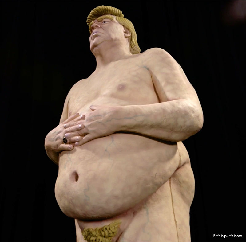 INDECLINE Naked Trump Statues