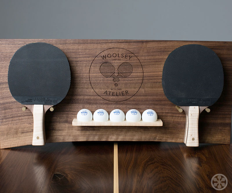 The Woolsey Walnut Wood Ping Pong Table Dining Table