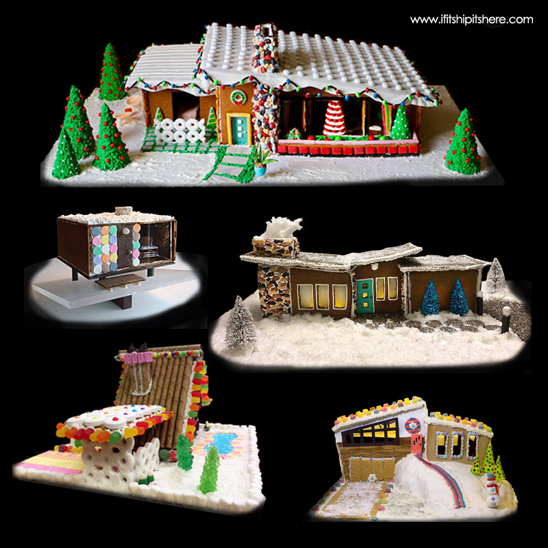 Mid-Century Modern Gingerbread Houses
