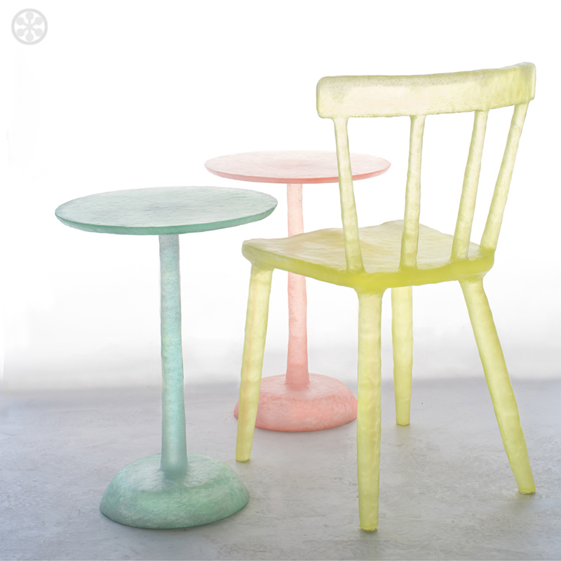 Furniture made from recycled plastic Chair If Its Hip Its Here Kim Markel Glow Collection Of Translucent Candycolored Furnishings
