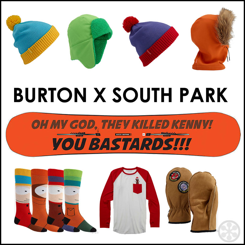 d85fae841bc A look at the complete Burton X South Park Collection
