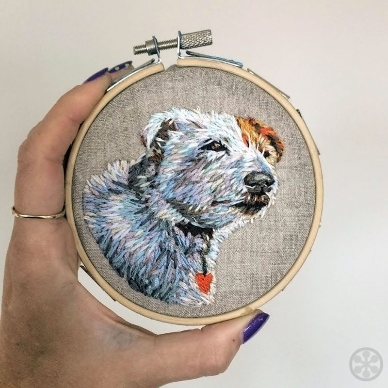 your dog embroidered danielle clough