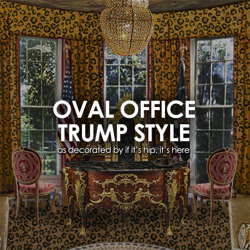 oval office trump style my inauguration gift to donald melania