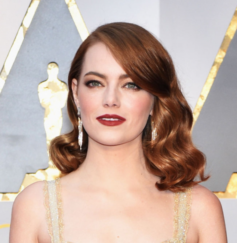 A gorgeously glam looking Emma Stone