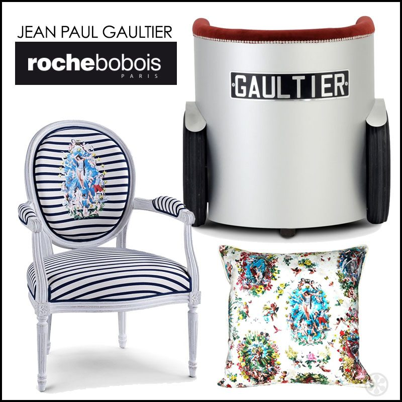 jean paul gaultier for roche bobois artsy furniture. Black Bedroom Furniture Sets. Home Design Ideas