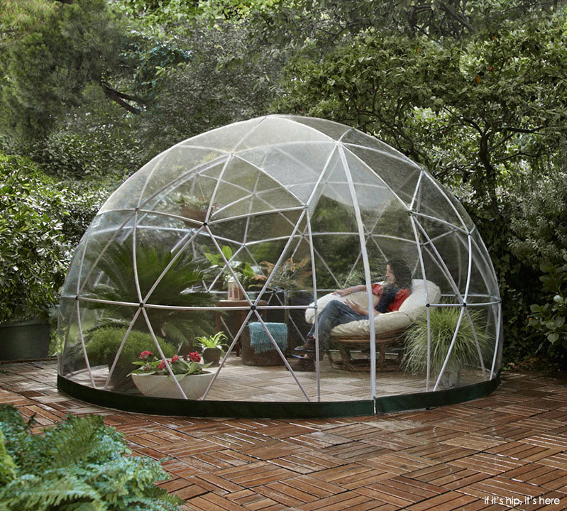 get your own garden igloo a geodesic dome tent. Black Bedroom Furniture Sets. Home Design Ideas