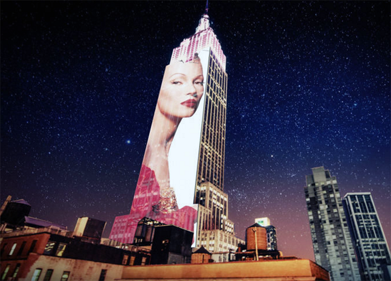 Empire State Building Projects Fashion Images Over Manhattan