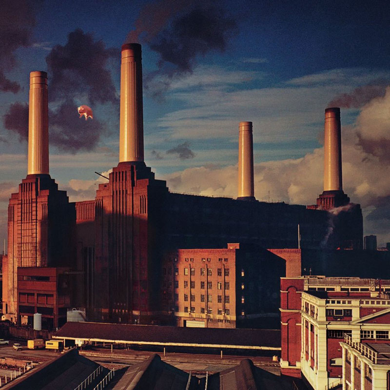 The cover of Pink Floyd's 1977 album, Animals.