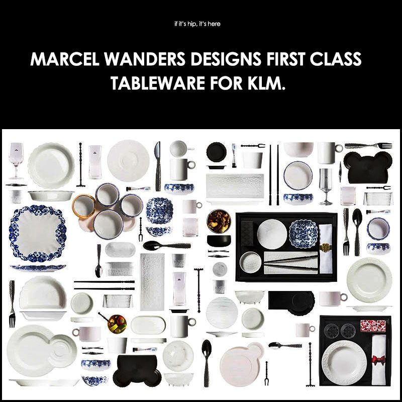 marcel wanders dining service for KLM