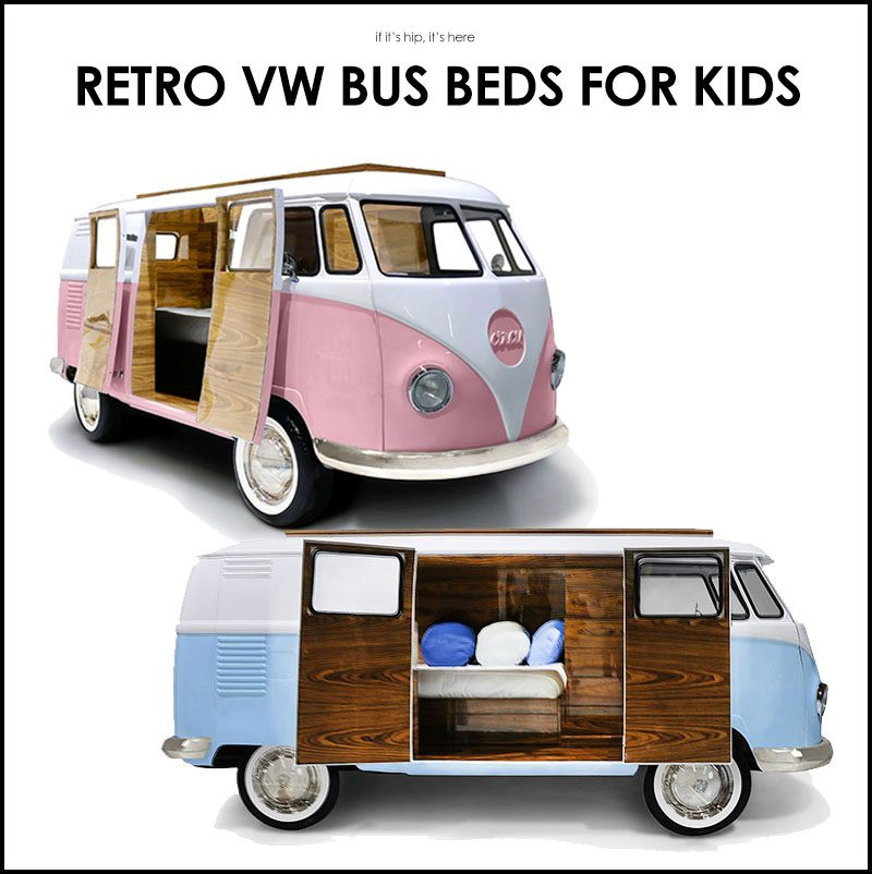 limited edition retro vw bus bed for kids in blue or pink. Black Bedroom Furniture Sets. Home Design Ideas