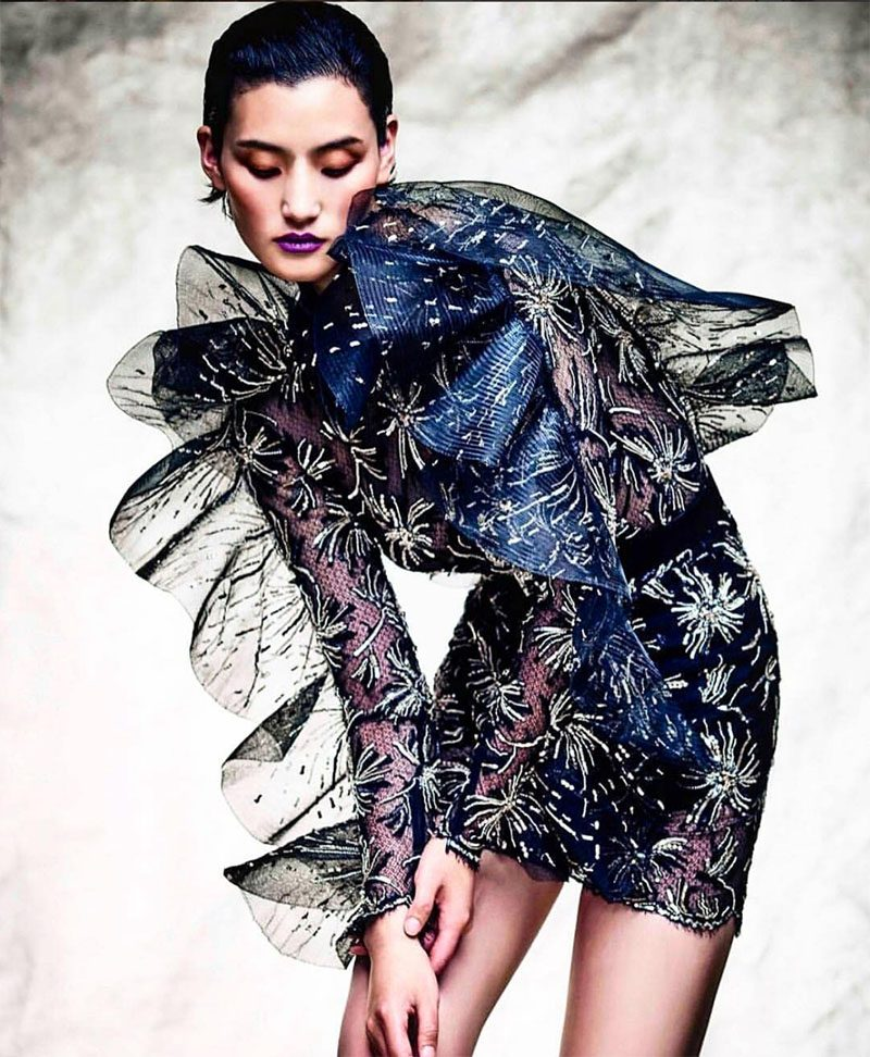 Zuhair Murad's Fireworks Embellished Couture