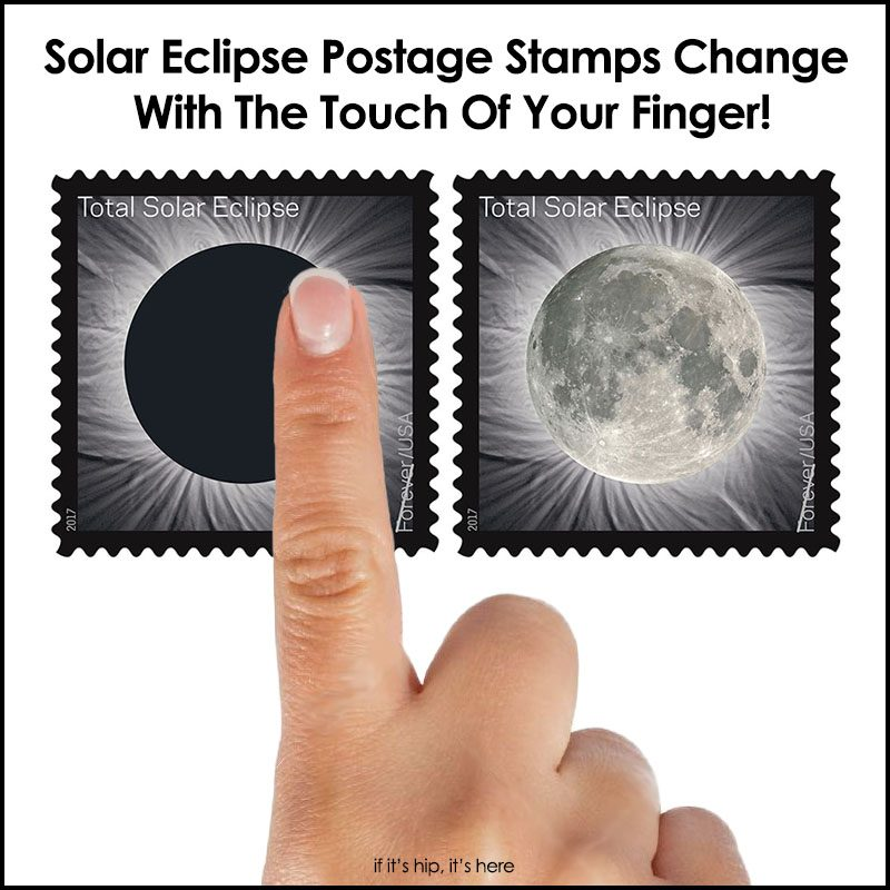Solar Eclipse Postage Stamps Change With The Touch Of Your Finger