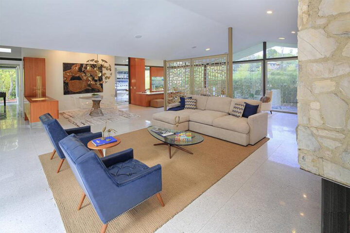 Restored Thornton Abell Mid-Century Modern Home Just Listed and Wow.