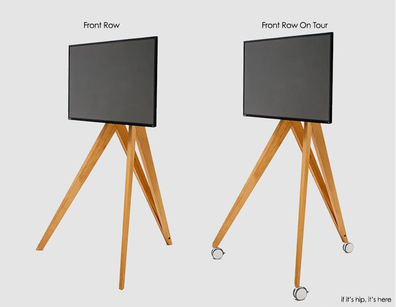 Front Row Wooden Tripod Tv Stands From Roomours
