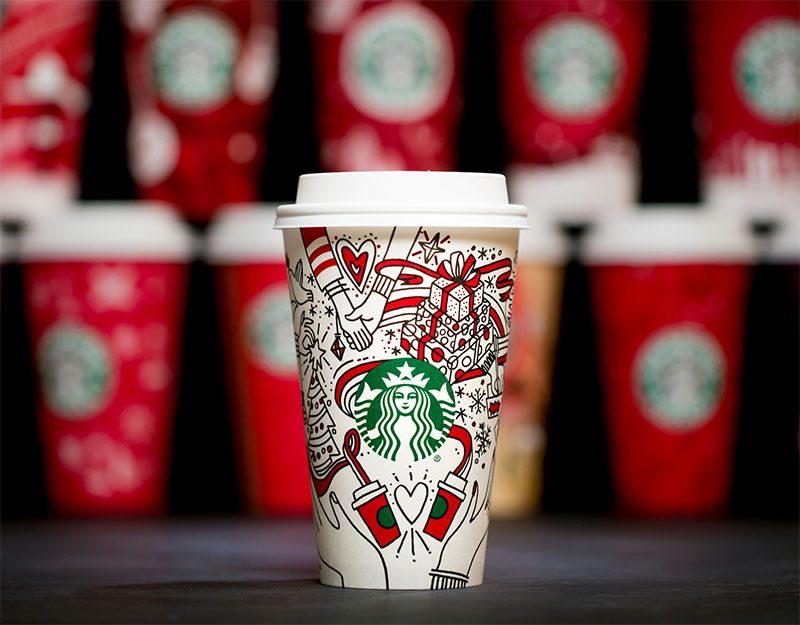 20 years of Starbucks Holiday cups