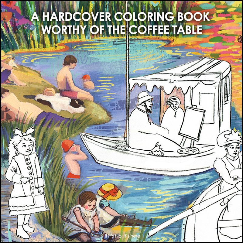 Hardcover Coloring Book Worthy Of A Coffee Table