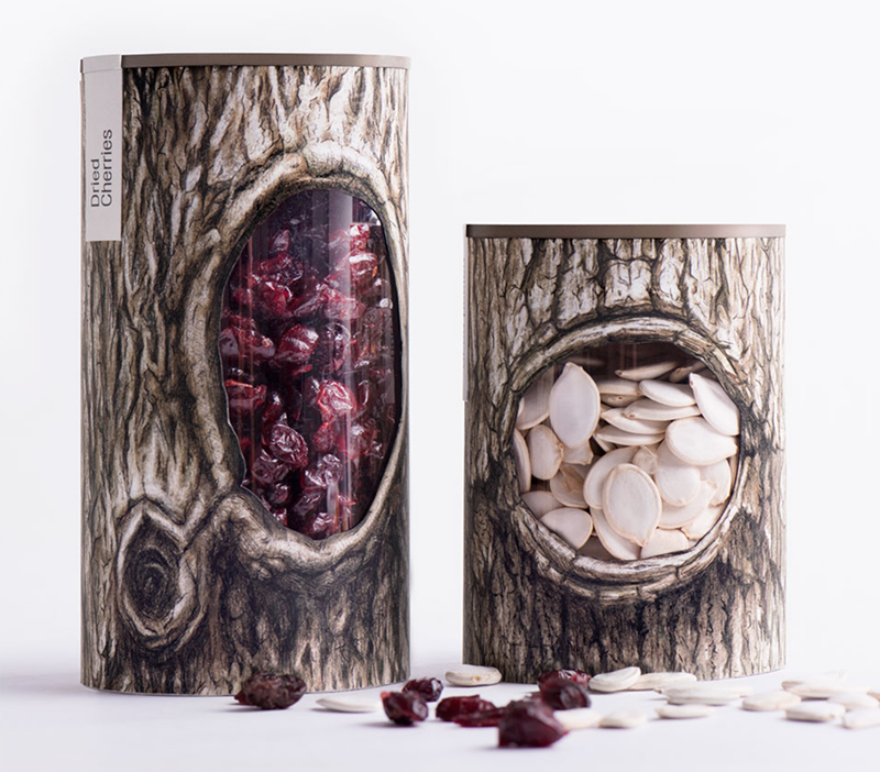 award-winning package design for nuts