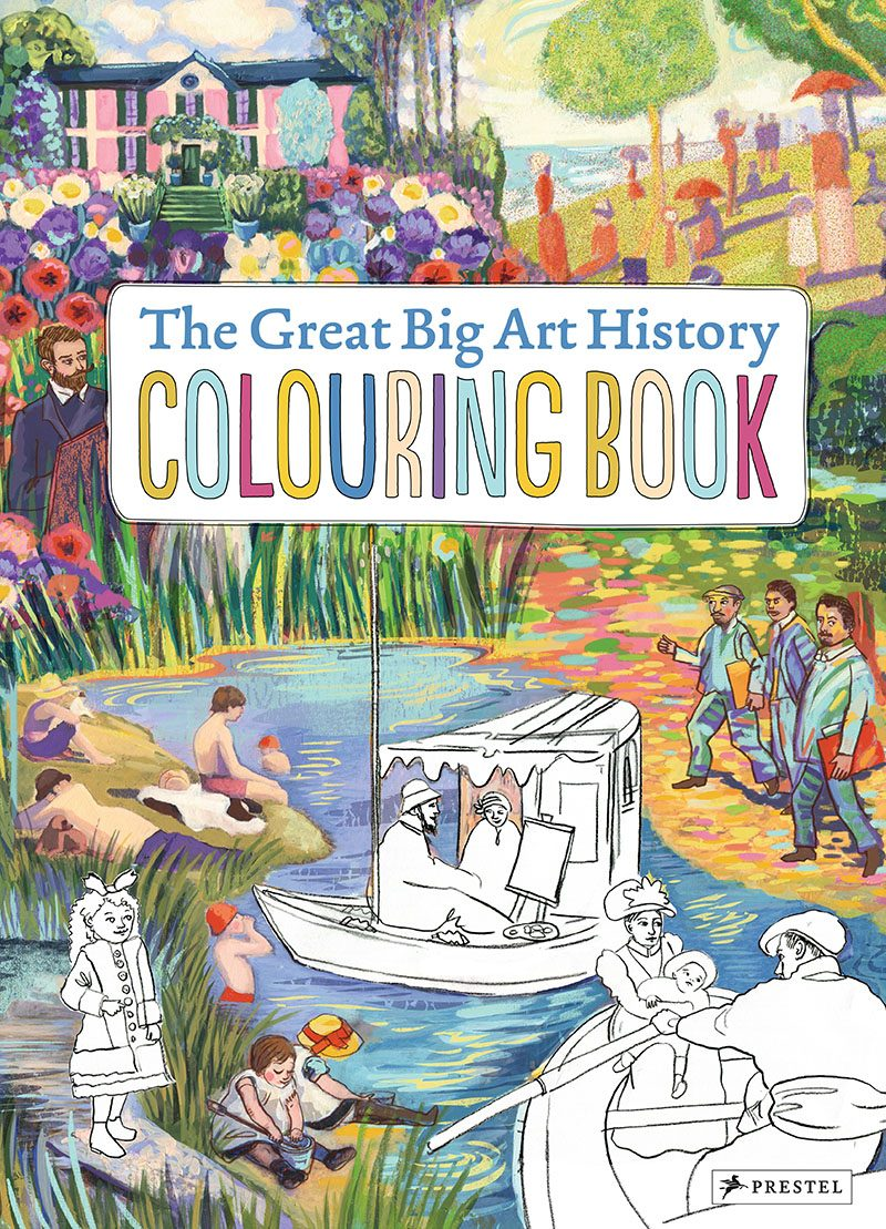 Book Cover Art History : Hardcover coloring book worthy of a coffee table