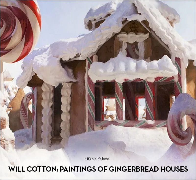 will cotton gingerbread house oil paintings