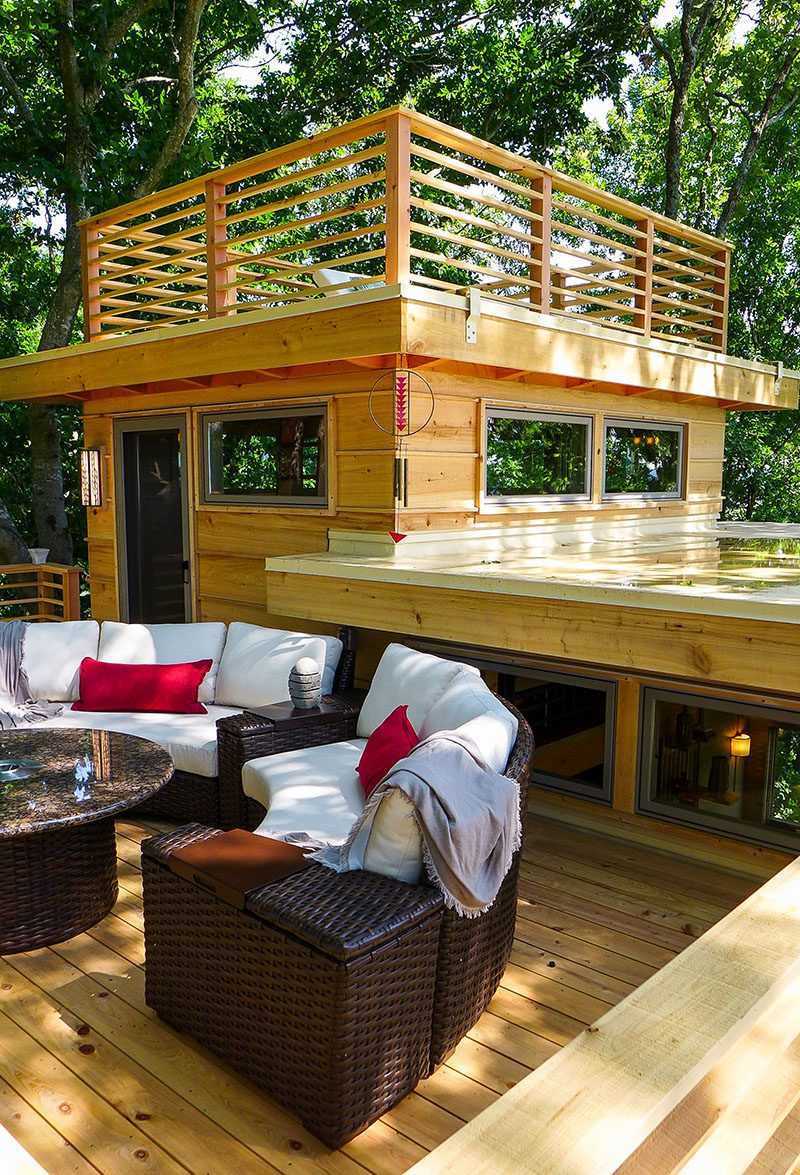 Spectacular 650 Sq Ft Ffrank Lloyd Wright Inspired Treehouse