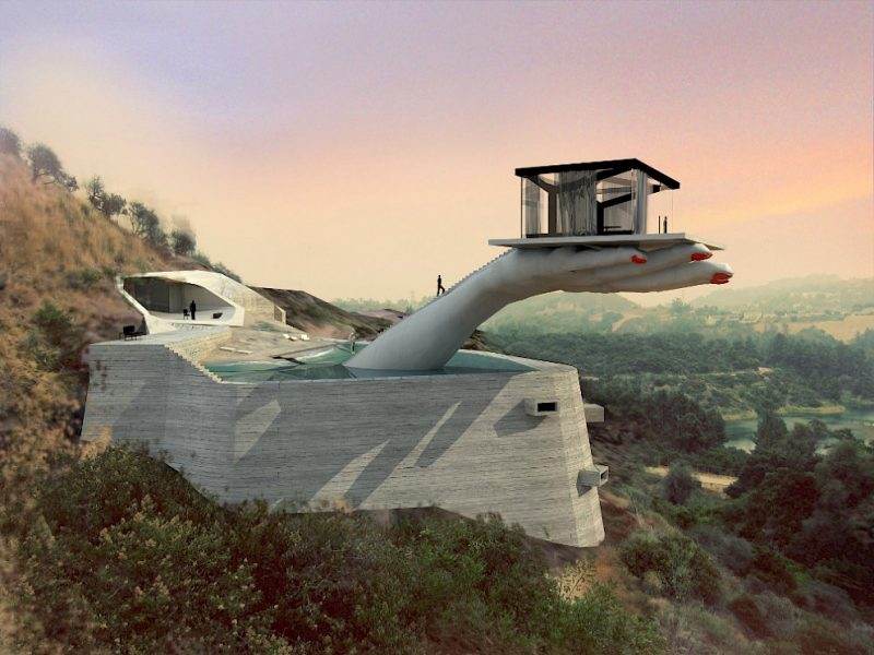The Hand House (concept) by Andreas Angelidakis, Los Angeles, CA: