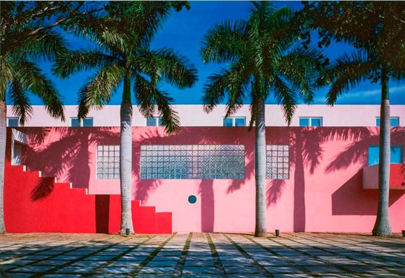 Arquitectonica's Pink House pool in Miami, Florida: