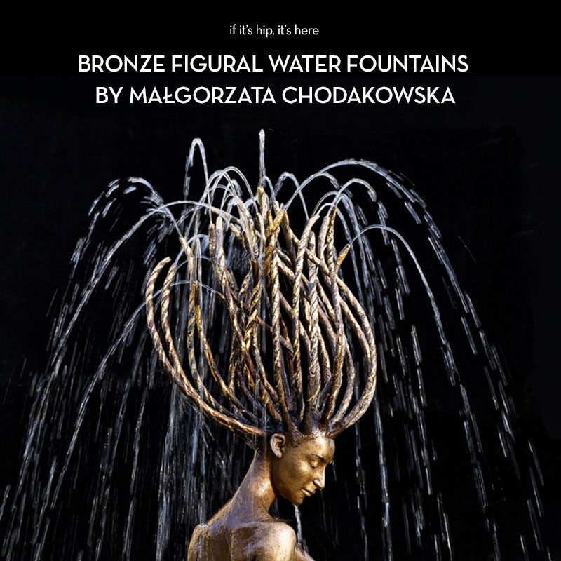 bronze figural water fountains on if it's hip, its here