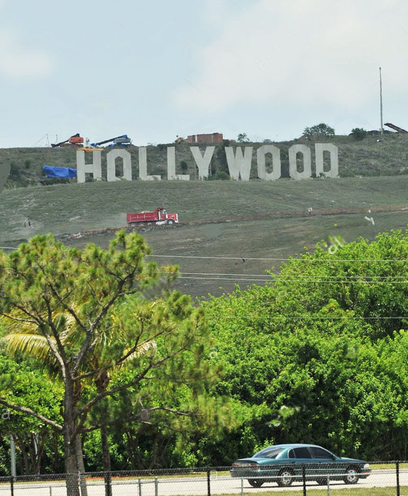 hollywood sign at Florida's Monarch Hill Renewable Energy Park