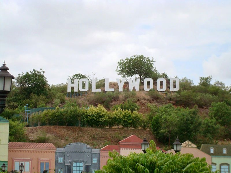 Hollywood sign in India