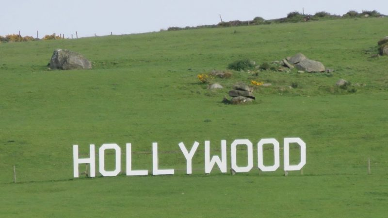 hollywood sign in Ireland