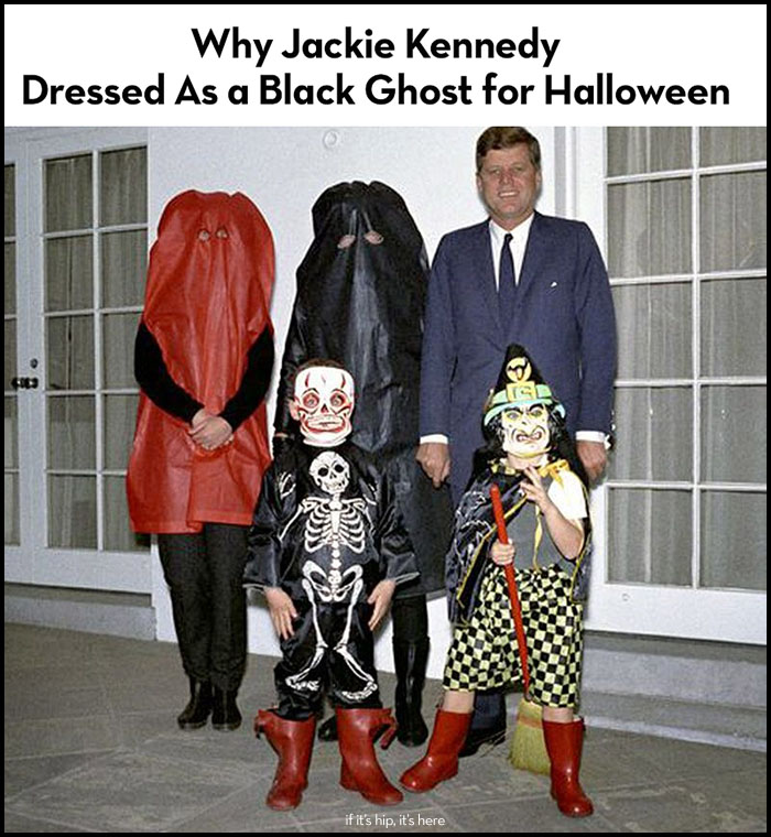 Read more about the article When Jackie Kennedy Dressed As a Black Ghost For Halloween and Why.