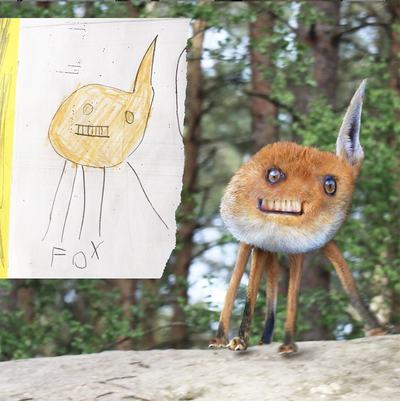 making drawings into cgi creatures