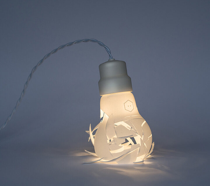 Breaking Bulbs Are 3D Printed Lamps That Appear Smashed.