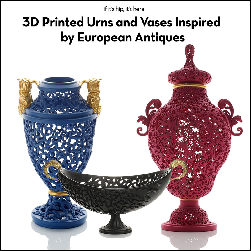 Michael Eden 3d printed urns and vases
