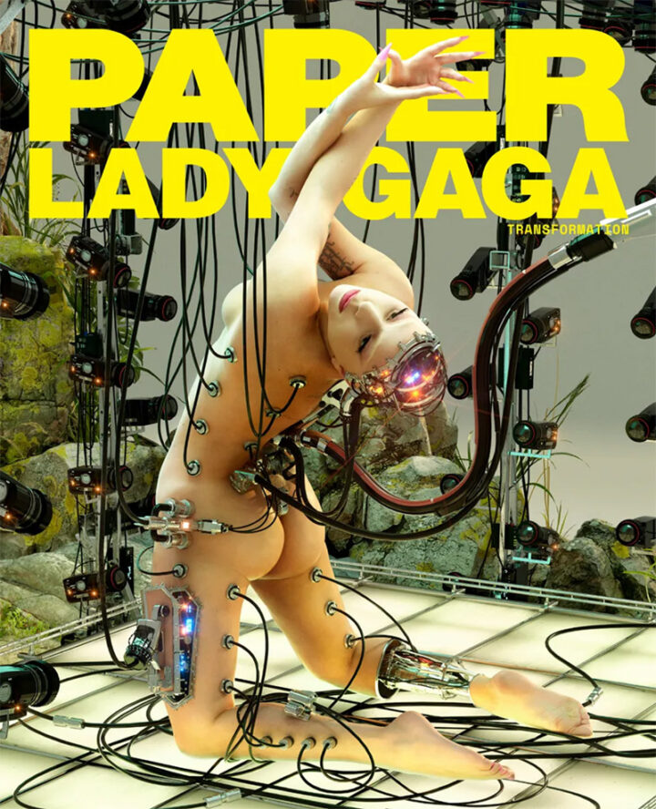 Transformation of Lady Gaga for Paper Magazine. Wow.