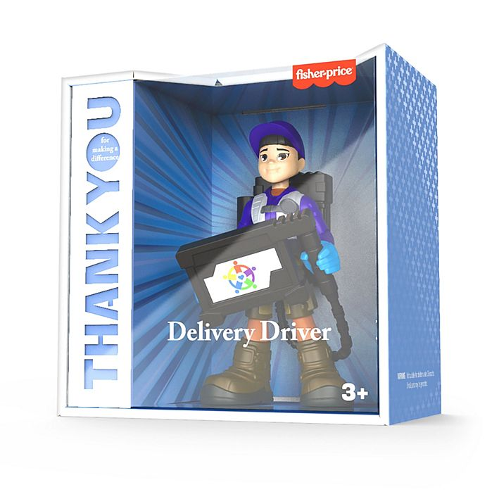 delivery driver thank you hero doll