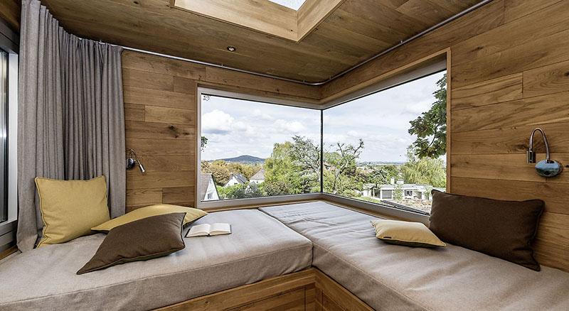 view from inside treehouse